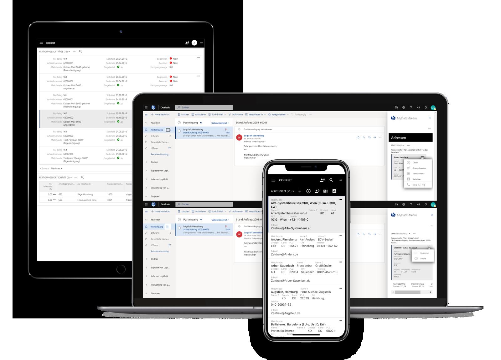 Kostenlose Präsentation und Live-Demo-Zugang zu mydatastream